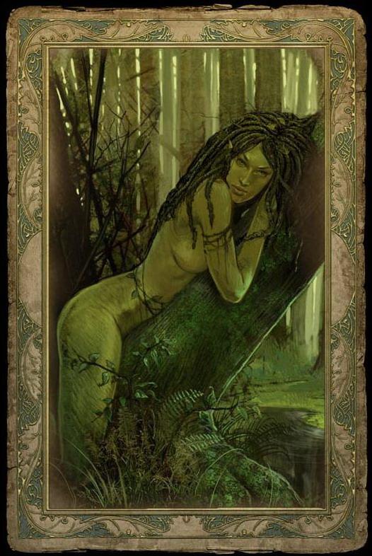 Лучшие девушки из игр - Моренн - дриада из Ведьмака