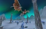 Дракон-скелет над потенциальными противниками