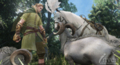 Лошадь и скот