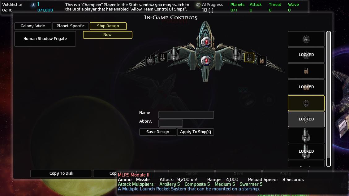 A.I.WAR Улучшение кораблей