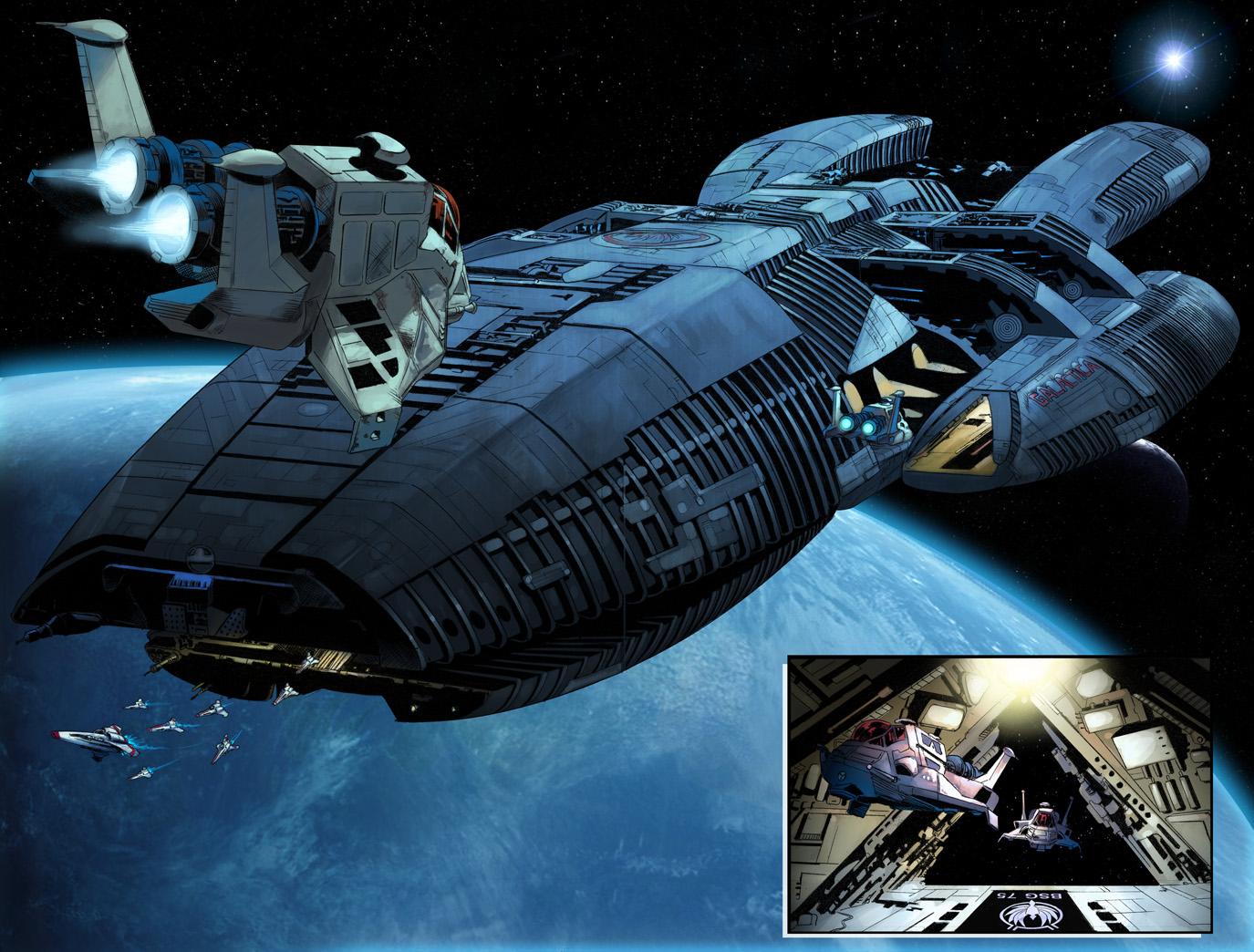 Battlestar Galactica Большой корабль в пути