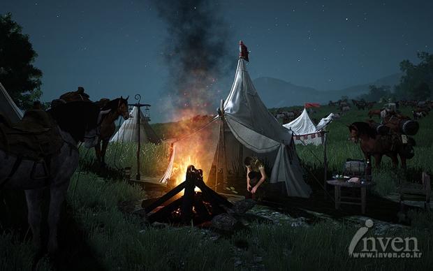 Black Desert Ночевка в лагере