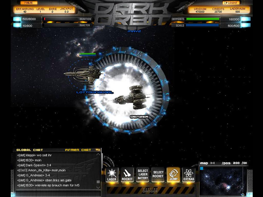 Dark Orbit Готовность к переходу