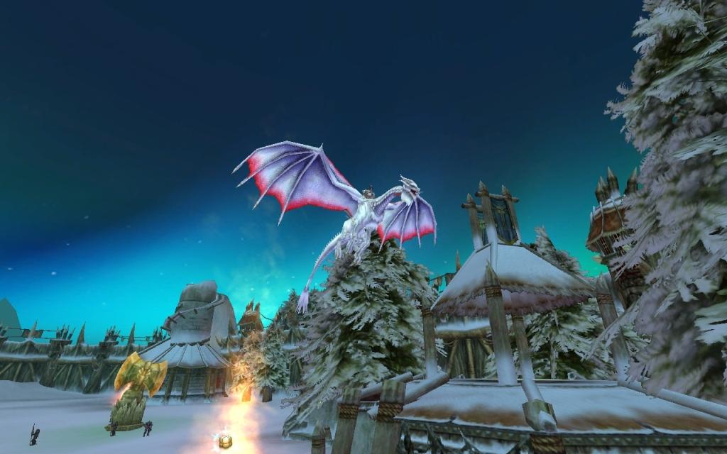 Повелители Драконов Снежный дракон над домами