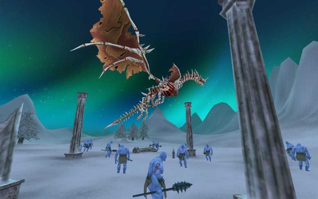 Повелители Драконов Дракон-скелет над потенциальными противниками