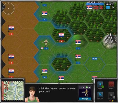 eRepublik Тактическая карта