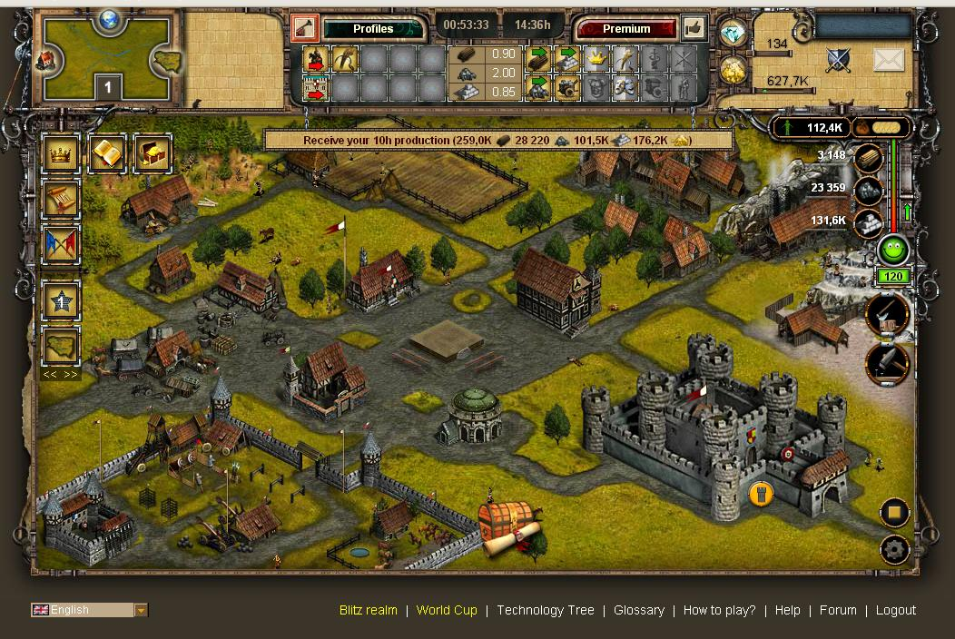 Imperia Online Застройка территории
