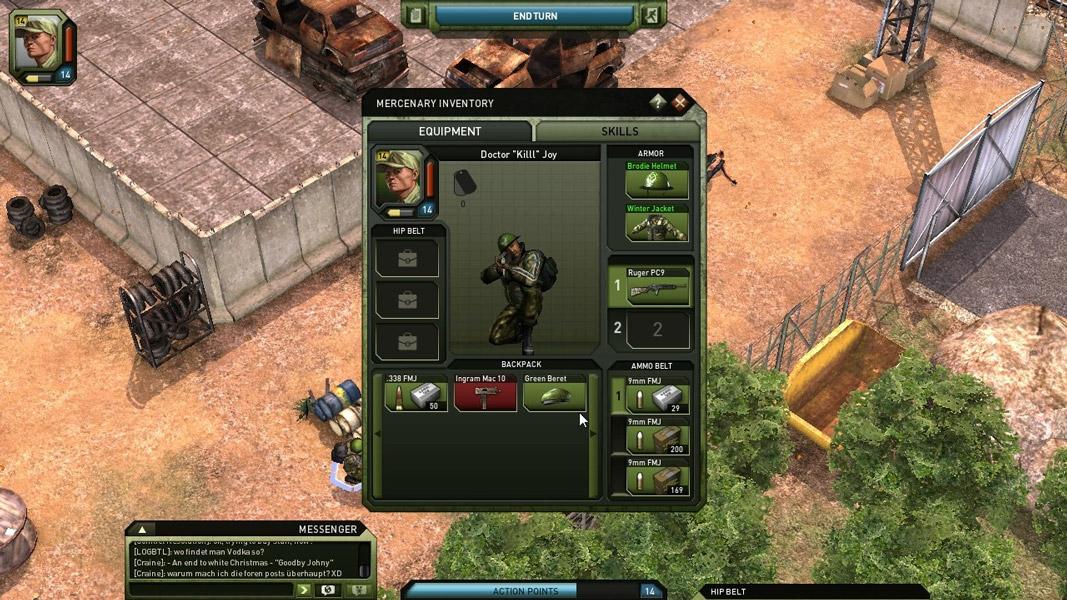 Jagged Alliance Оборудование персонажа