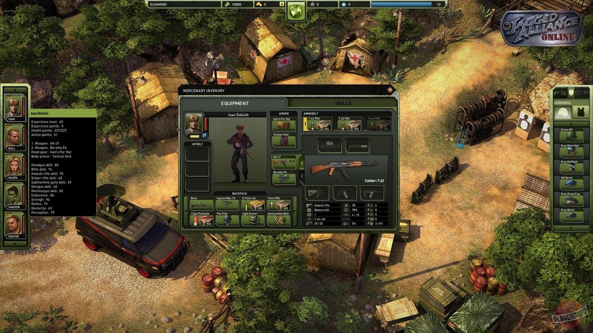 Jagged Alliance Автомат - лучшее оружие