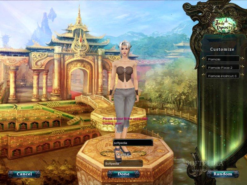 Jade Dynasty Создание персонажа