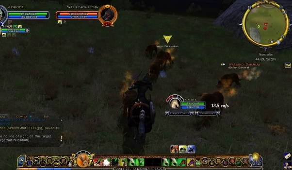 The Lord of the Rings Online: Riders of Rohan Горящие волки