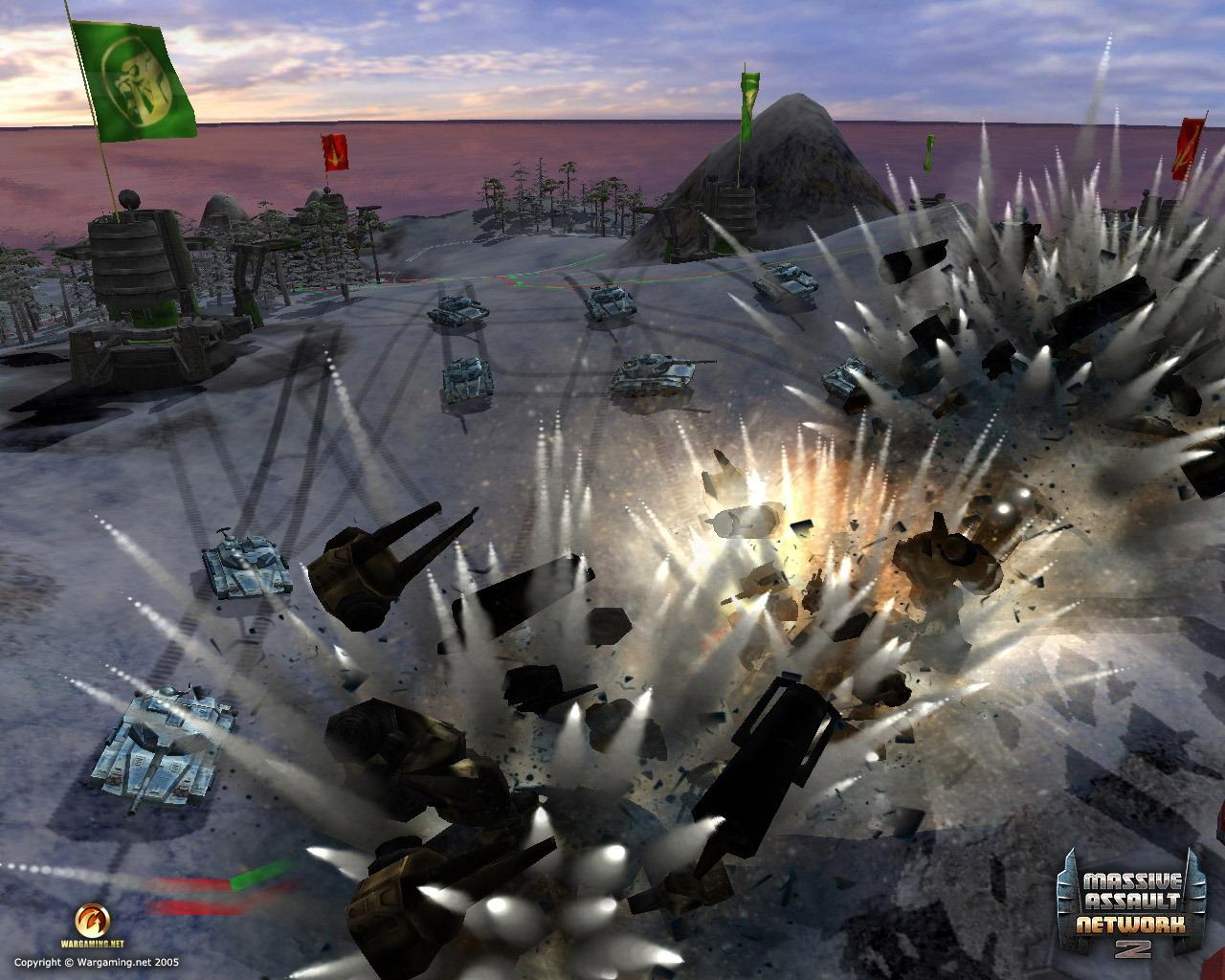 Massive Assault Network 2 Взрыв