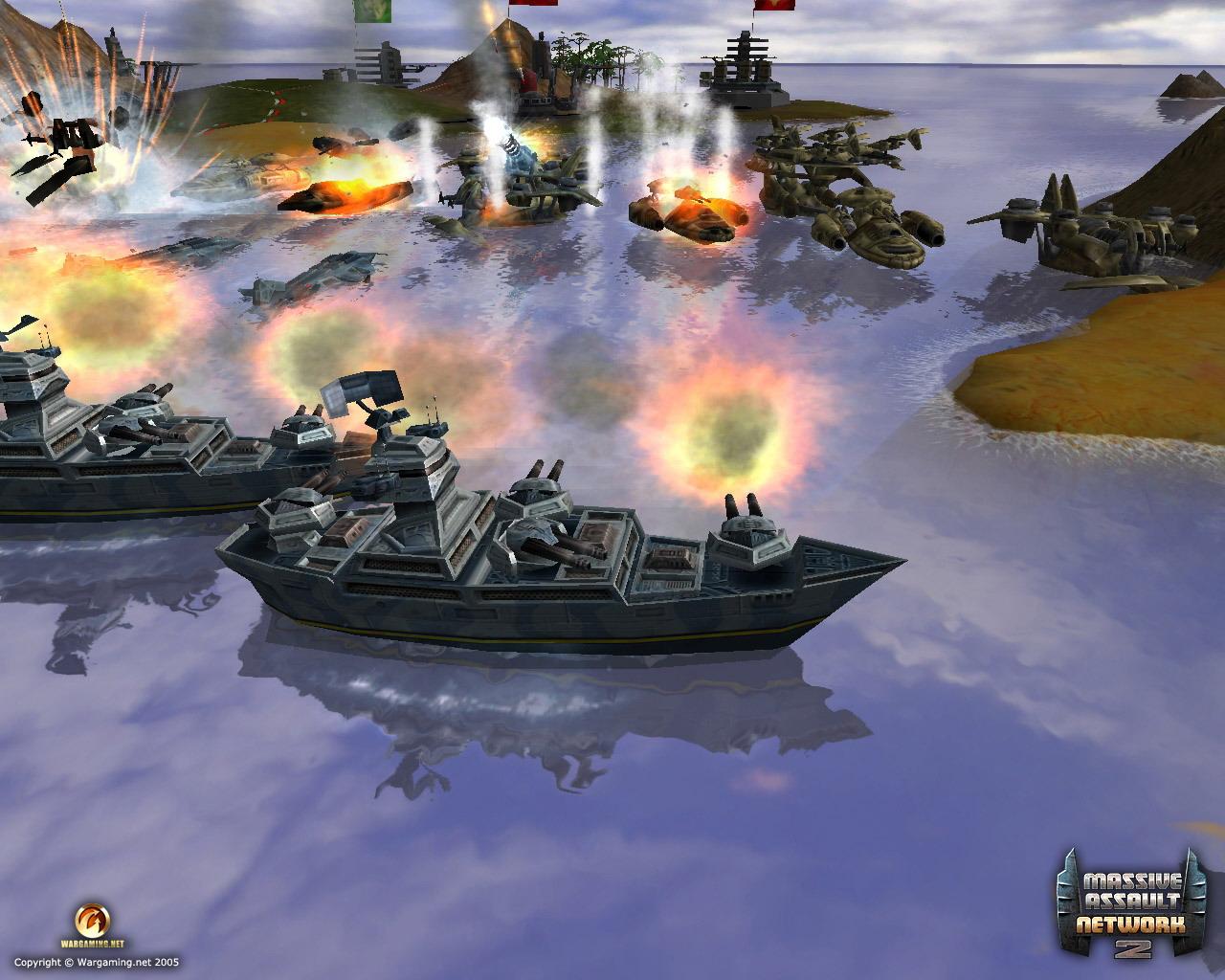 Massive Assault Network 2 Корабль в море