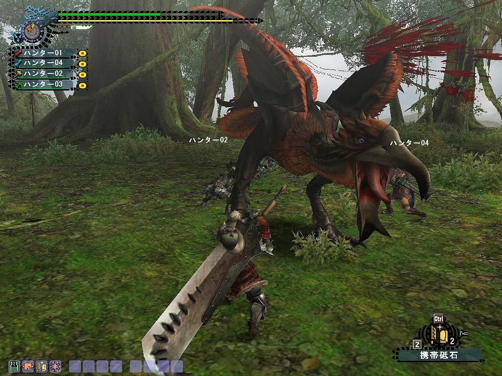 Monster Hunter Frontier Птеродактиль с перьями