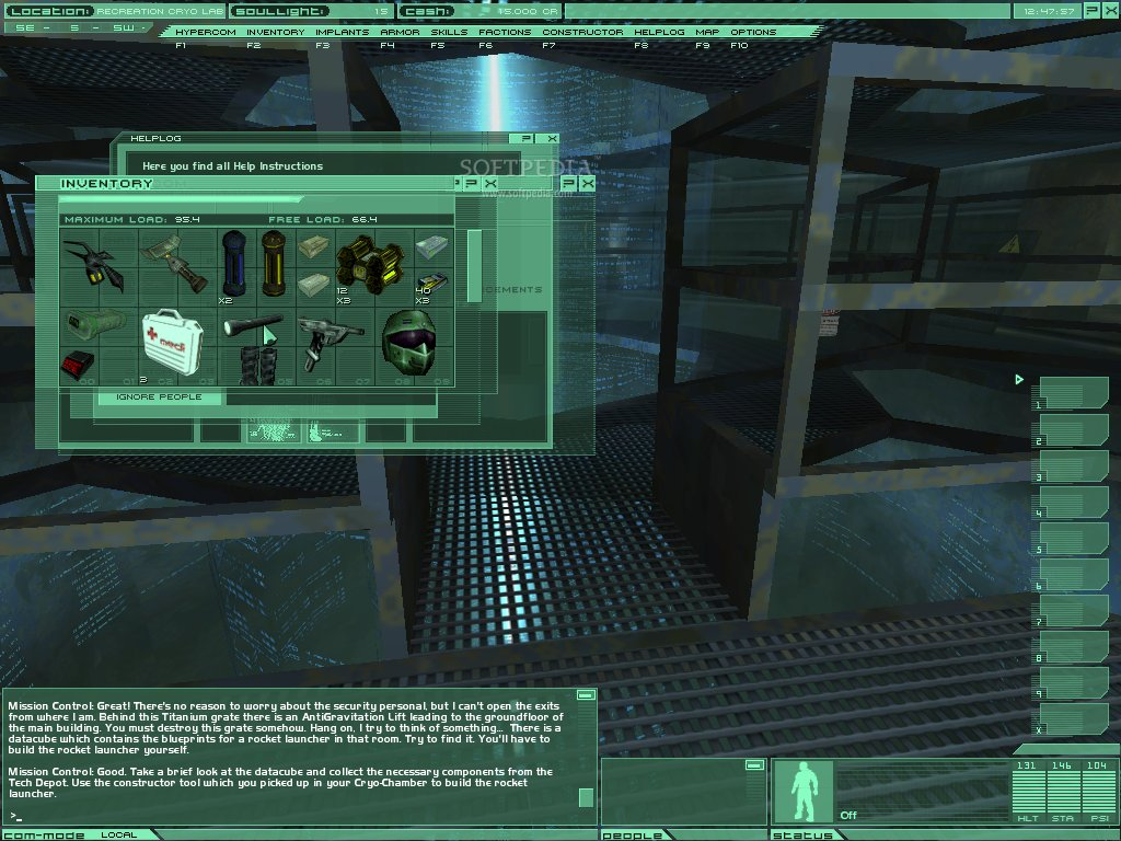 Онлайн Игра Neocron - Инвентарь. Картинки, скриншоты