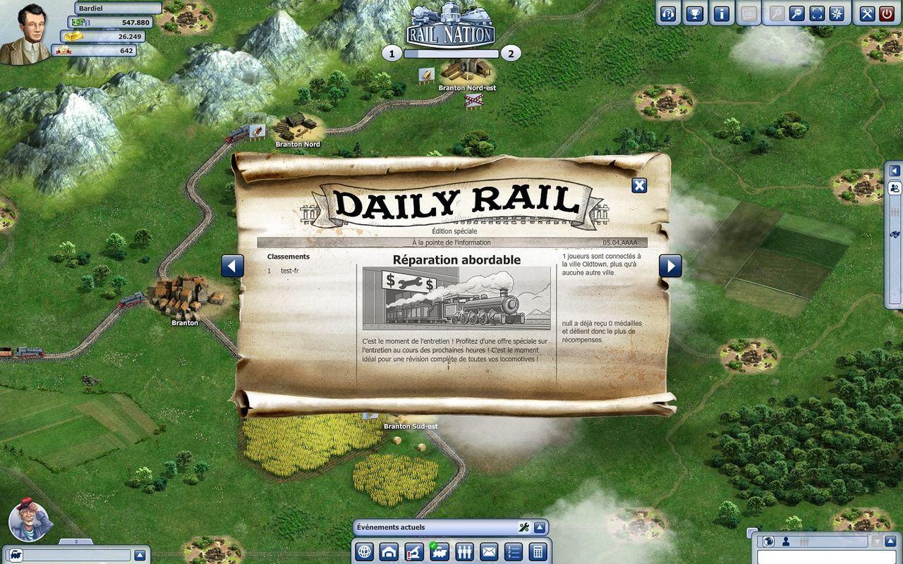 Rail Nation Новости дня
