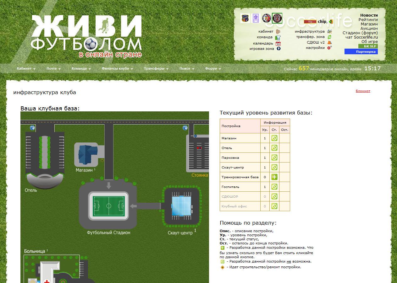 Живи Футболом База клуба