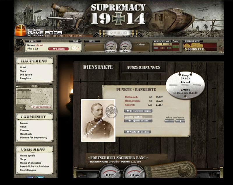 Supremacy 1914 Герой