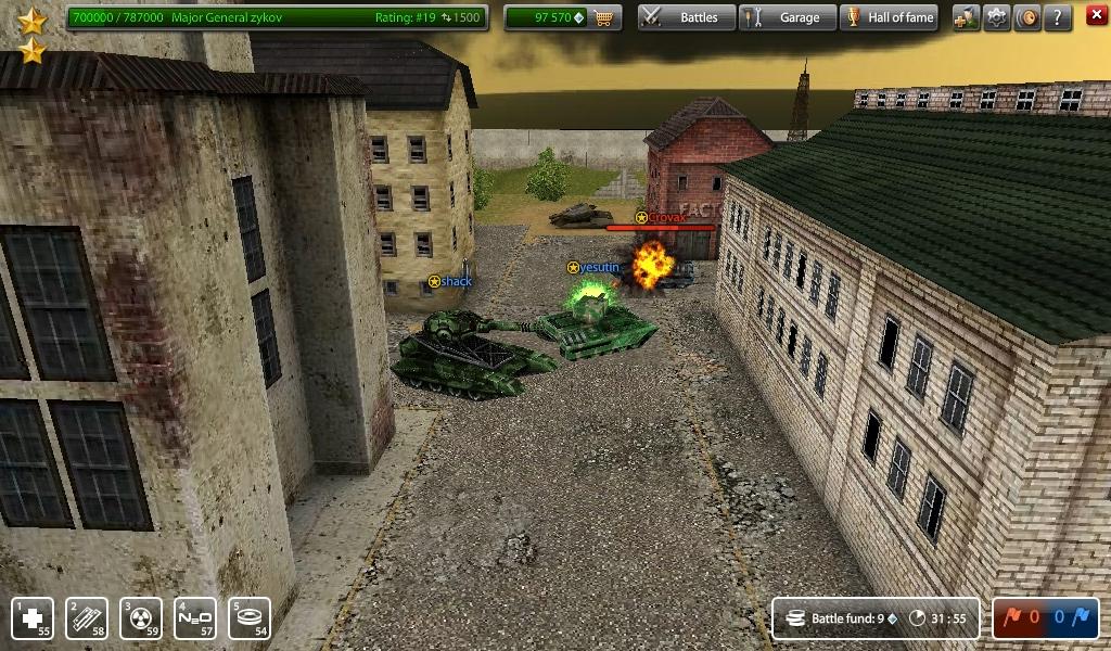 Скриншоты к онлайн игре танки онлайн