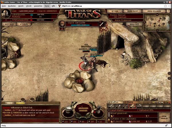War of Titans Вход в логово