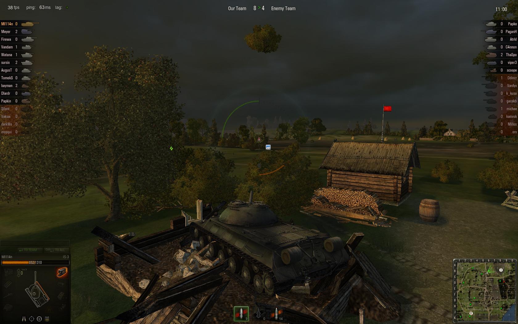 World of Tanks Стрельба с руин
