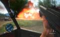 Взрыв машины врагов