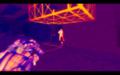 Тепловизор в работе - видно ногу врага, скрывшуюся за стеной