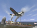 Самолет над кораблем