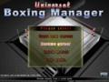 Главное меню Universal Boxing Manager