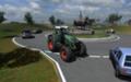 Трактор на улице