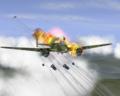 Подбитый бомбардировщик