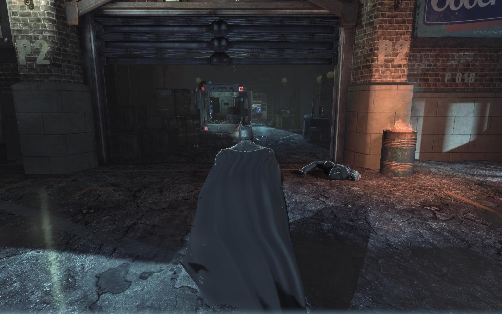 Batman: Arkham Origins Вход в гараж