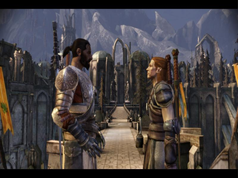 Dragon Age: Origins Вид на Остагар