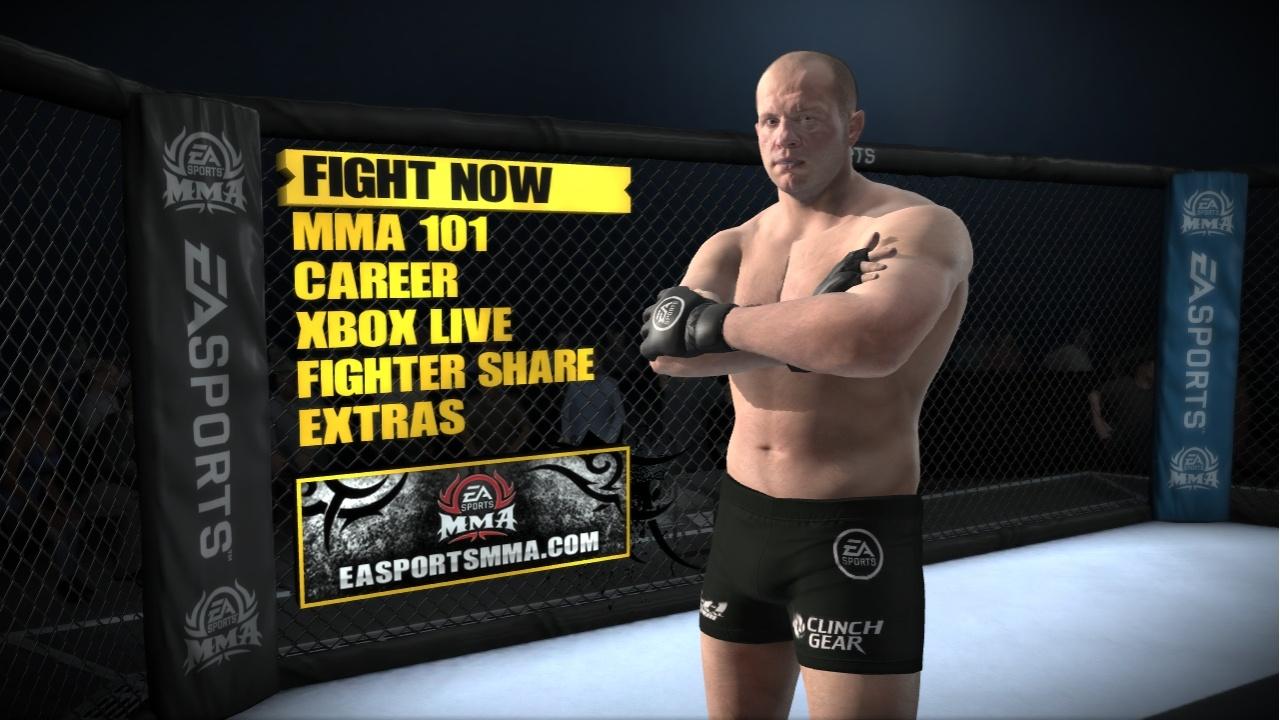 EA Sports MMA Меню и легенда MMA