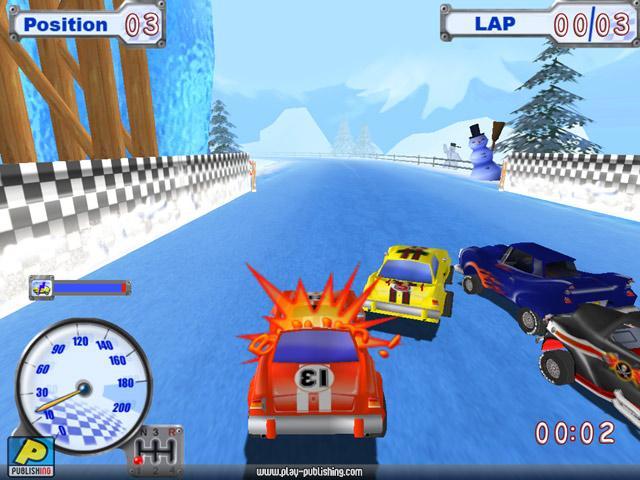 Funny Racer Зимняя трасса