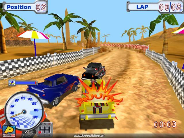 Funny Racer Геймплей