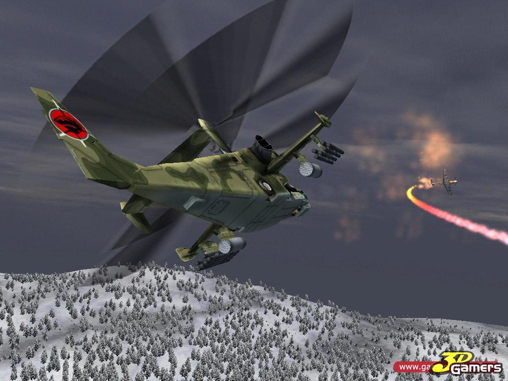 Красная акула 2: Ликвидация Хоссманна Двупропеллерный вертолет