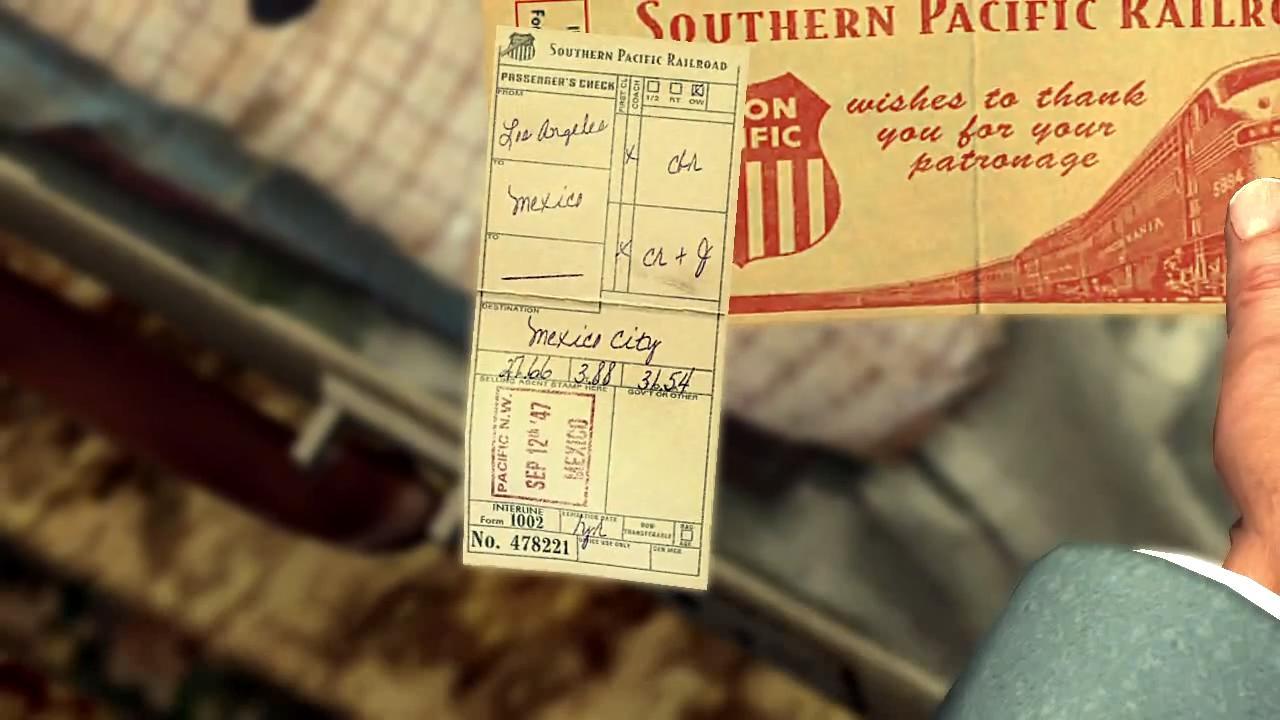 L.A. Noire Билет на поезд