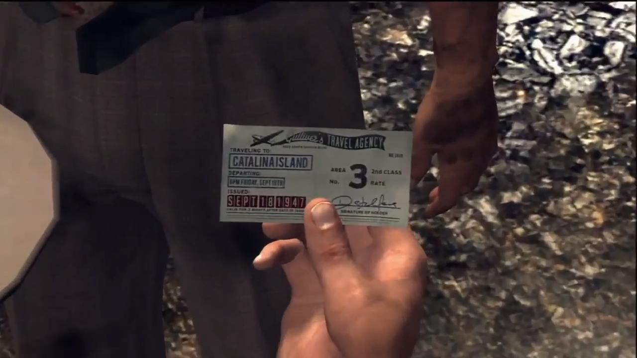 L.A. Noire Выигрышный талон
