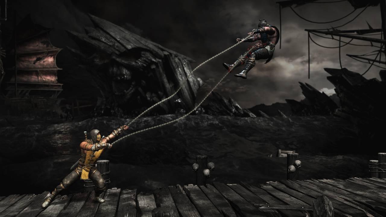 Mortal Kombat X Scorp SubZero Cove AirSpearBW
