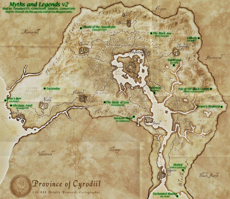 oblivion карта: