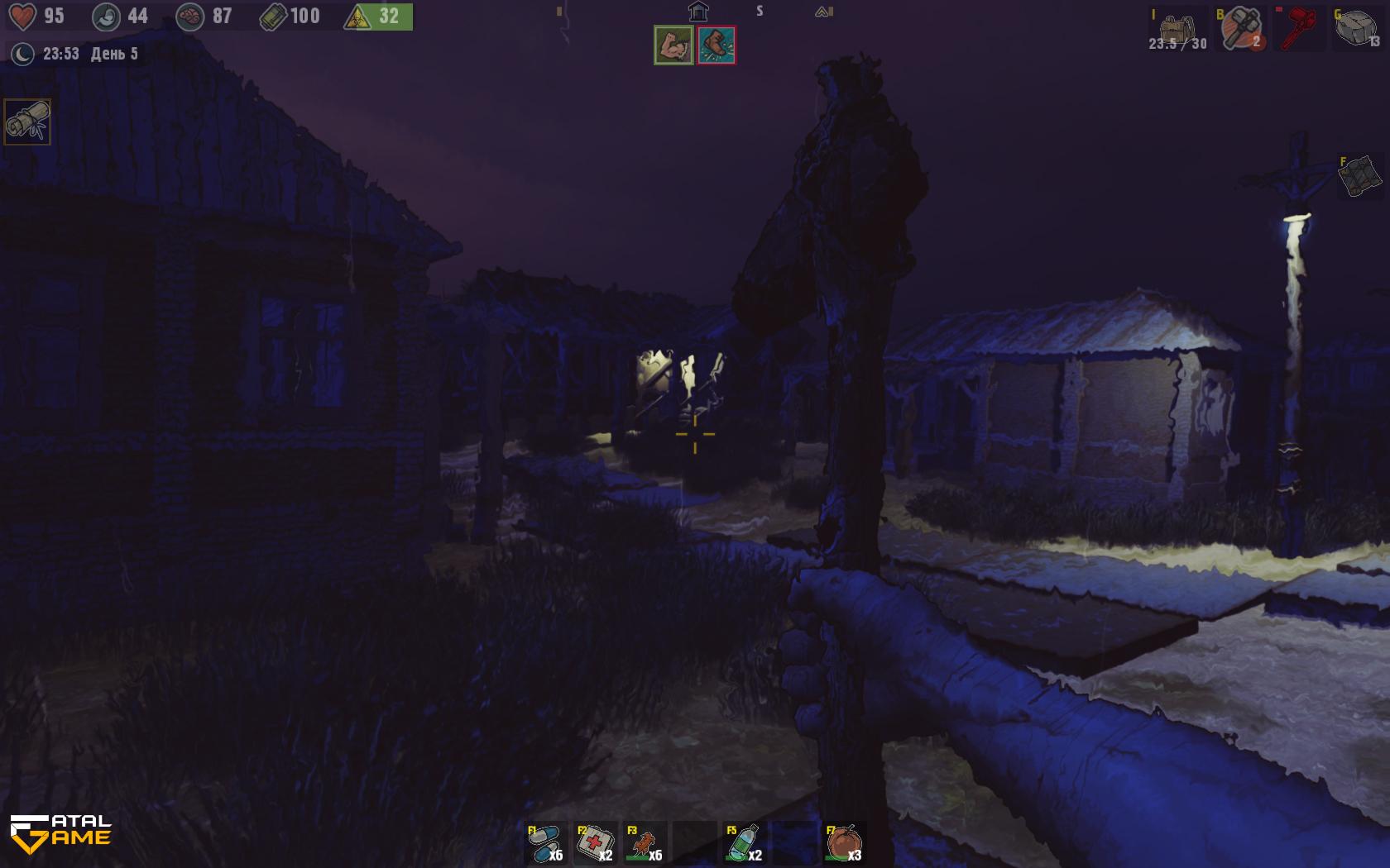 Shadows of Kurgansk По пути в убежище ночью