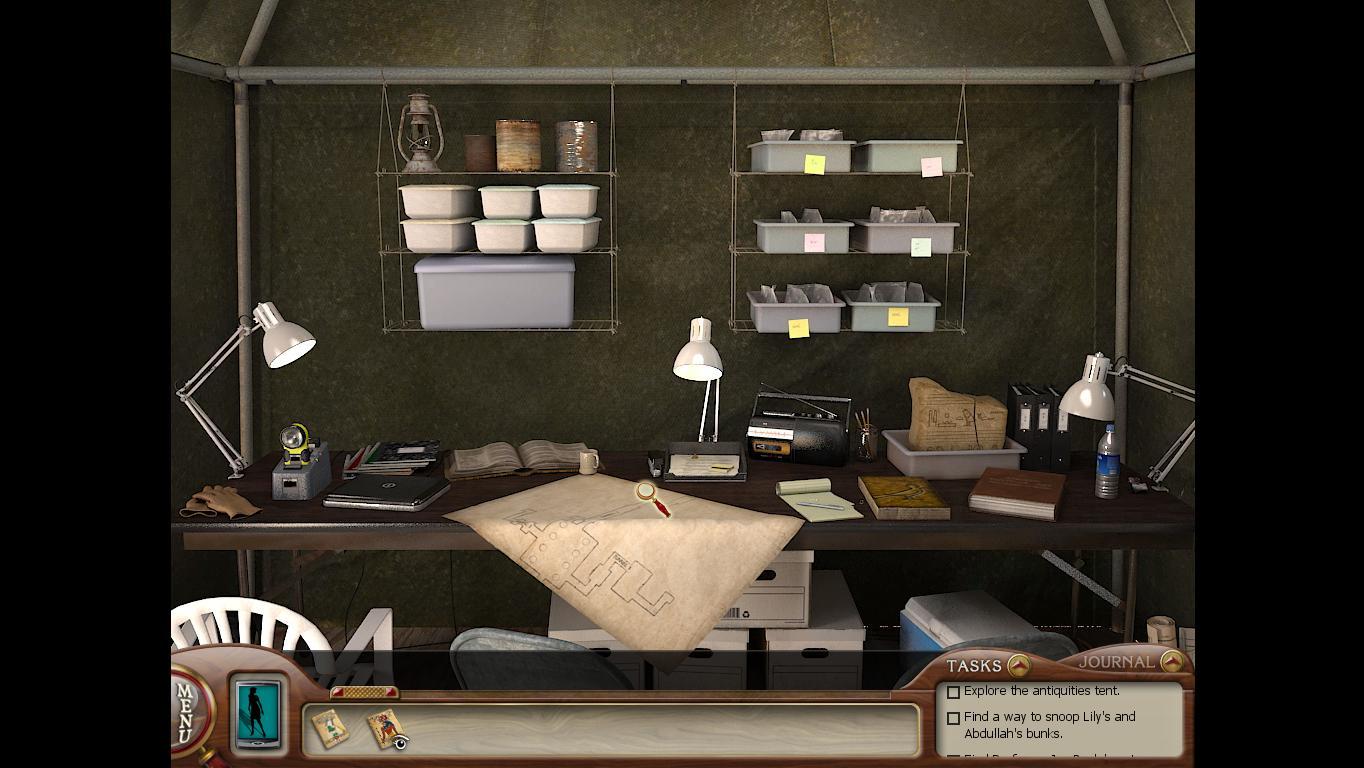 Нэнси Дрю: Усыпальница пропавшей королевы Карта раскопок