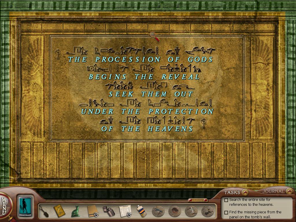 Нэнси Дрю: Усыпальница пропавшей королевы Текст на саркофаге