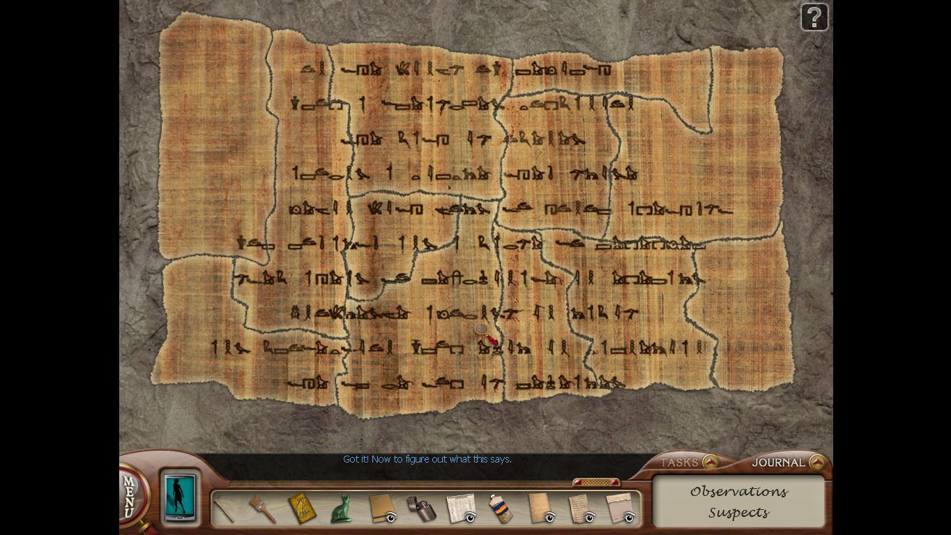 Нэнси Дрю: Усыпальница пропавшей королевы Склеенный папирус