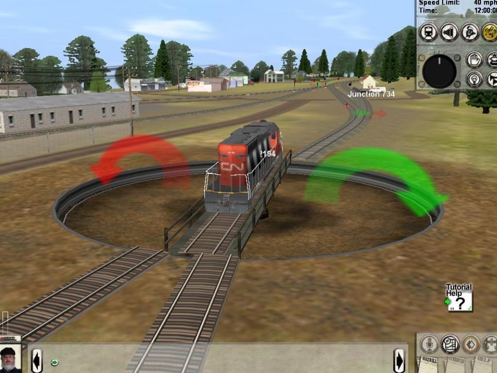 Trainz: The Complete Collection Тепловоз на разворотном круге