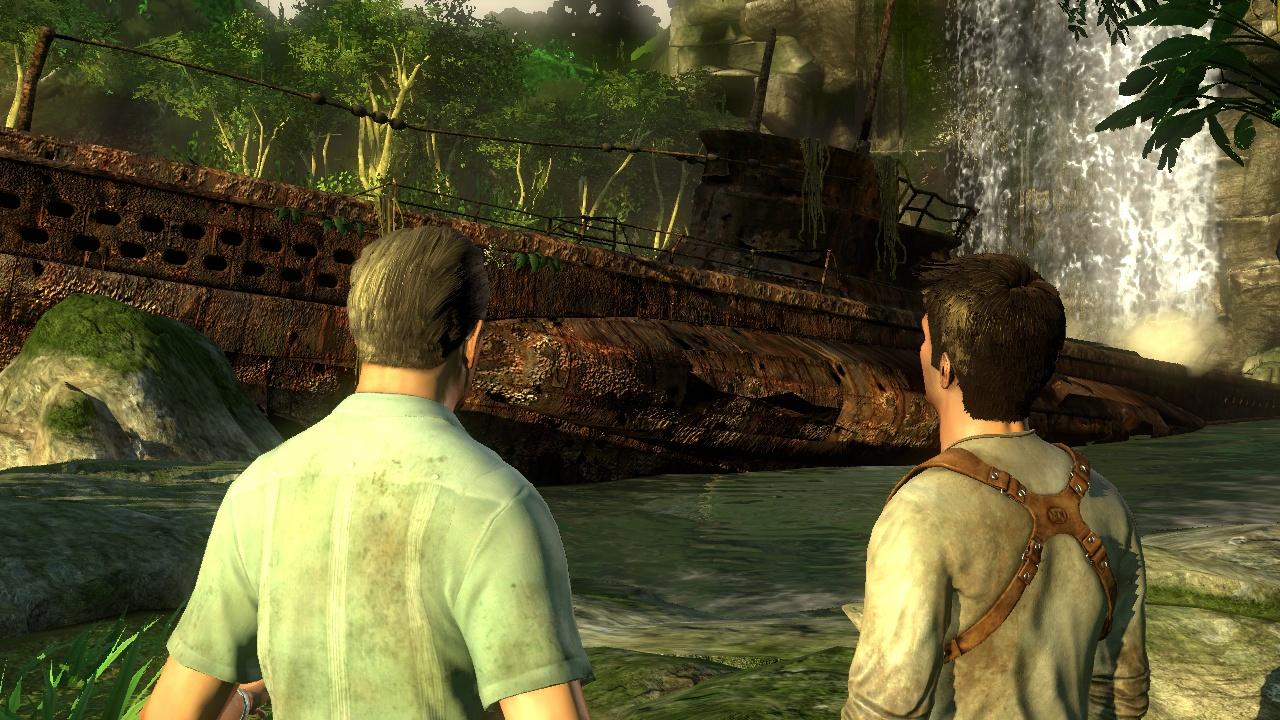 Uncharted: Drake's Fortune Старая подводная лодка