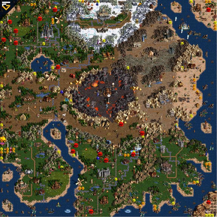 скачать карту для героев 3 Heroes - фото 6